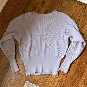 Free people purple sweater